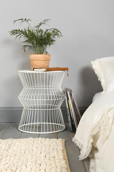 Wire nightstand