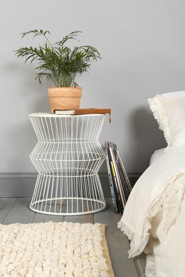 Wire nightstand