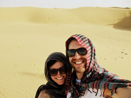 Courtney and Joe in Thar Desert, India. Edited.