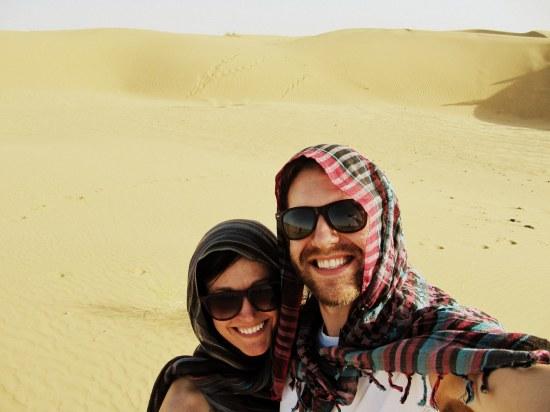 Courtney and Joe in Thar Desert, India. Edited.